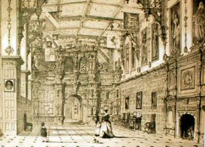 Audley End - 19th century image, interior
