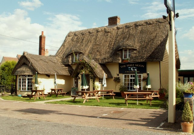 pub with thatched roof - exterior