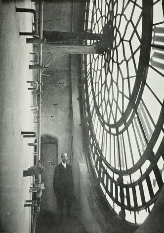 inner view of the clock face