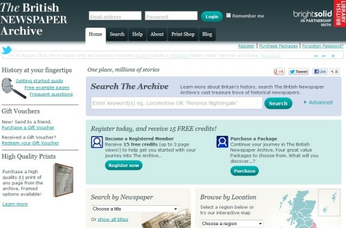 british newspaper archive website