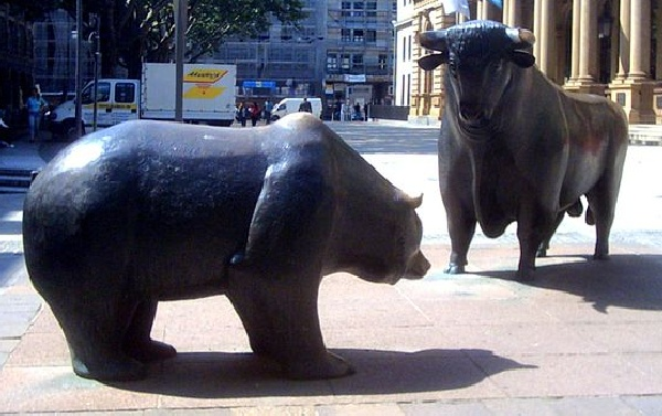 Bear and Bull in Frankfurt, Germany