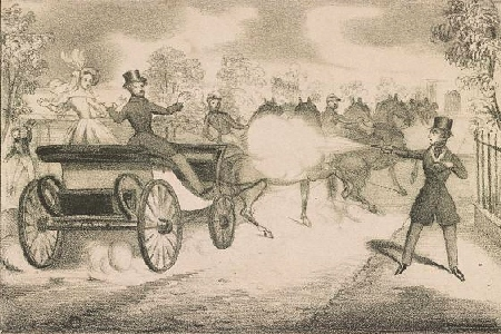 cartoon of Edward Oxford and the attempted assassination