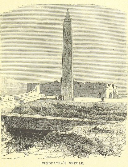 obelisk on the ground in Alexandria