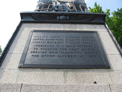 Plaque at the base of Cleopatra's Needle
