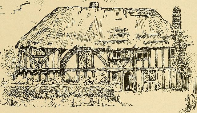 drawing of the clergy house late 19th century