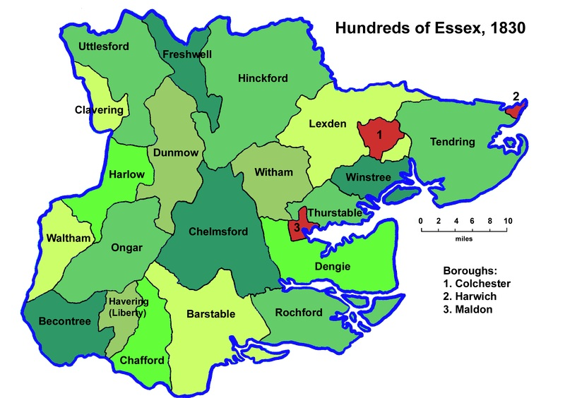 map of essex hundreds