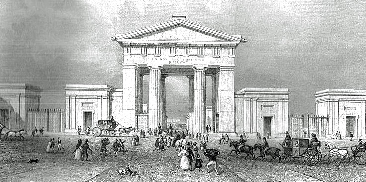 euston station classical entrance