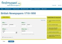 findmypast website