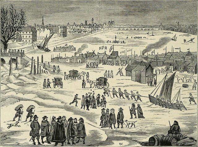frost fair on the thames