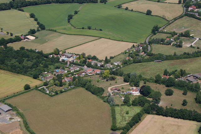 Hazeleigh aerial view