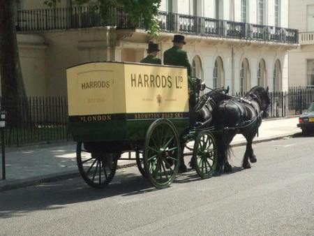 harrods delivering items
