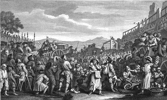 hogarth print, execution at tyburn