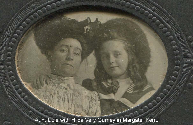 Hilda Gurney with her aunt Elizabeth