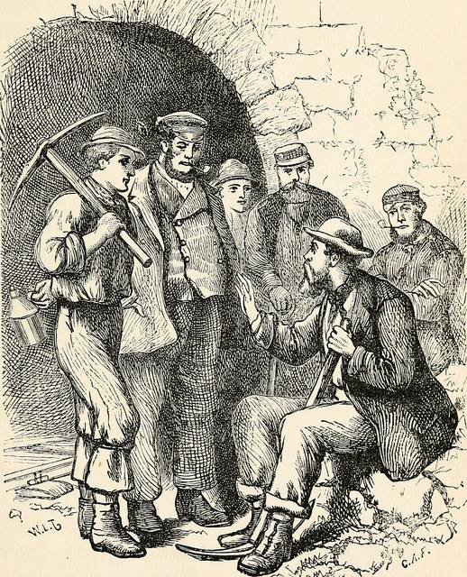 groups of navvies talking