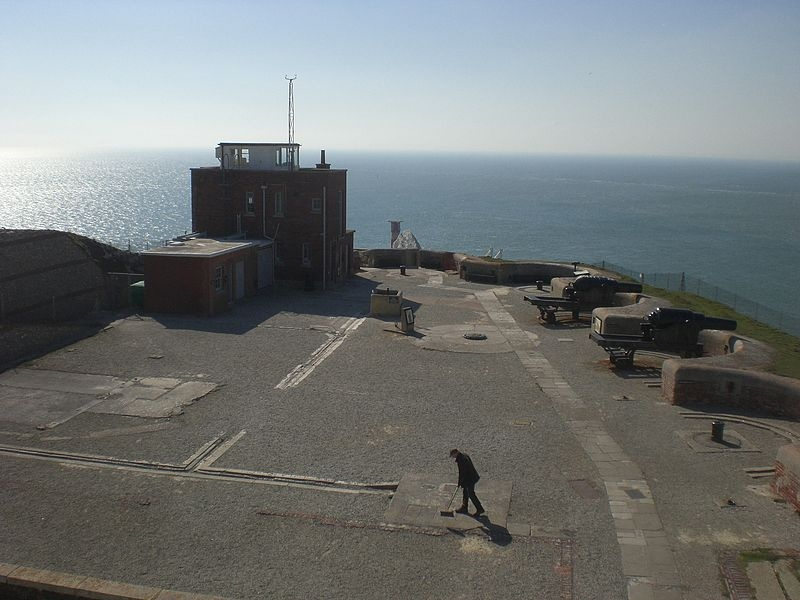 the needles battery, guns facing out towards the sea
