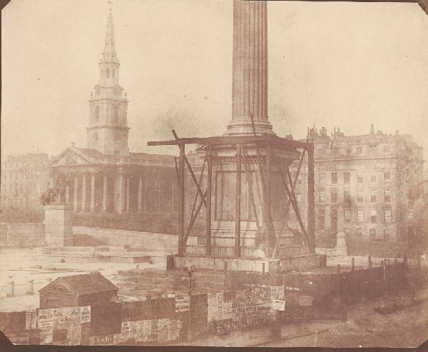 nelson's column with scaffolding