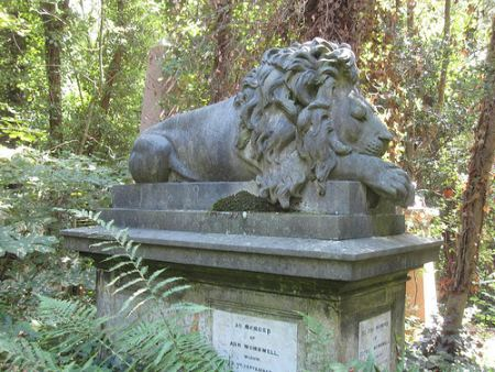 A tomb in Highgate Cemetery