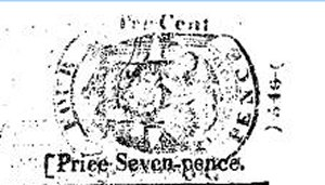 newspaper tax stamp