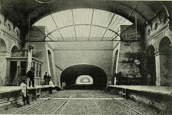 underground station and tunnel