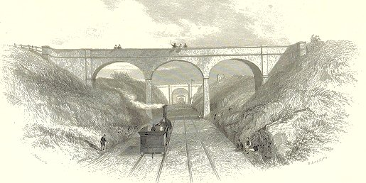 newly built Victorian railway