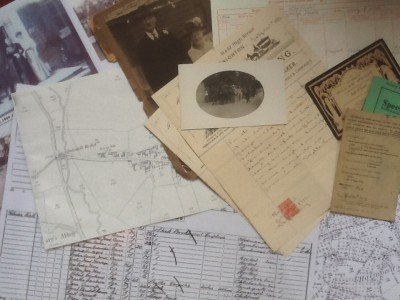 documents, photographs, maps