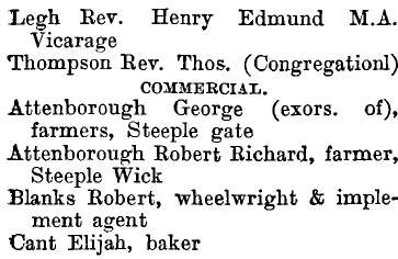 Steeple 1895 directory - list of names