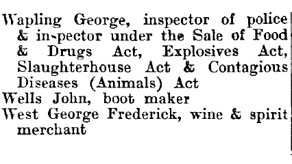Thorpe le Soken 1895 directory - list of names