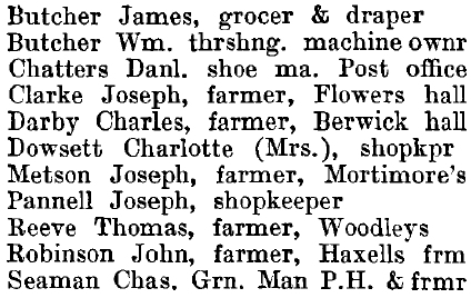 Toppesfield 1895 directory - list of names