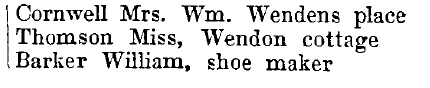 Wendens Ambo 1895 directory - list of names