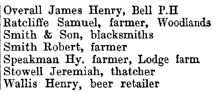 Woodham Walter 1895 directory - list of names